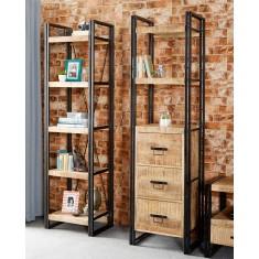 Imari Industrial Mango Slim Bookcase