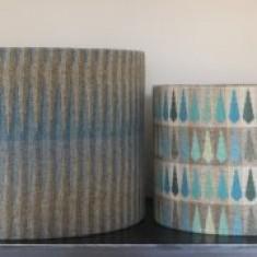 30cm x 24cm Chalk Wovens Turquoise Beacon Drum