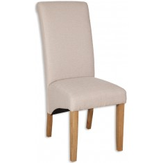 Amalfi Fabric Dining Chair - Natural