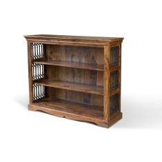 Jali Sheesham Wide Bookcase