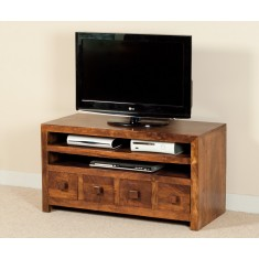 Dakota Mango Medium 4 Drawer TV Unit