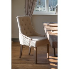 Richmond Studded Fabric Dining Chair