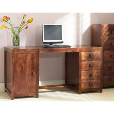 Dakota Mango Pedestal Desk