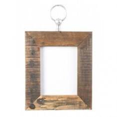 Rustic Ring Hung Picture Frame