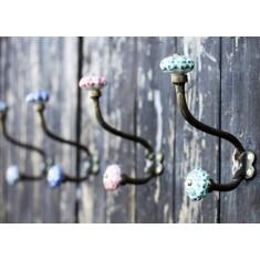 Hand Painted Ceramic Hanging Hooks