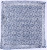 Blue Lattice Cotton Cushion 50x50cm